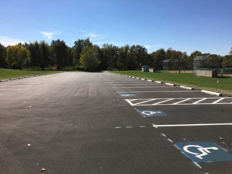 outdoor sporting facility parking lot