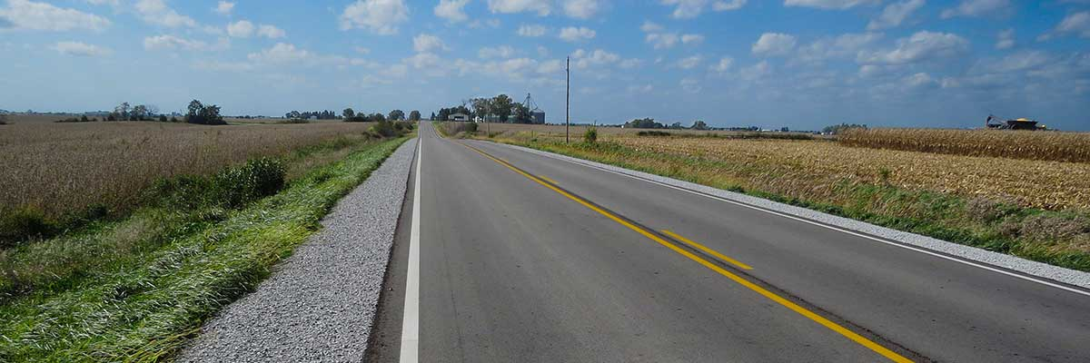 Asphalt road in Amana Iowa