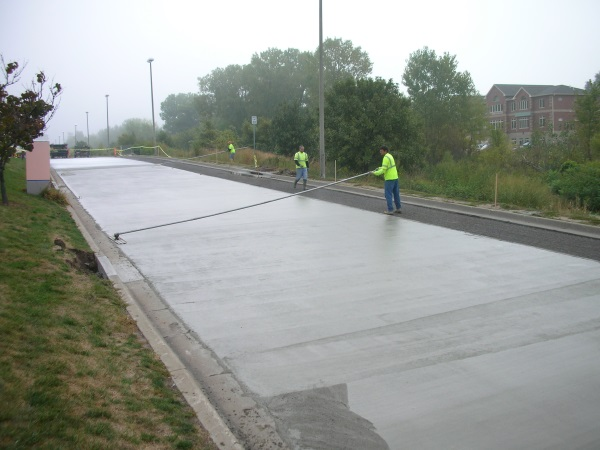 Concrete drive process